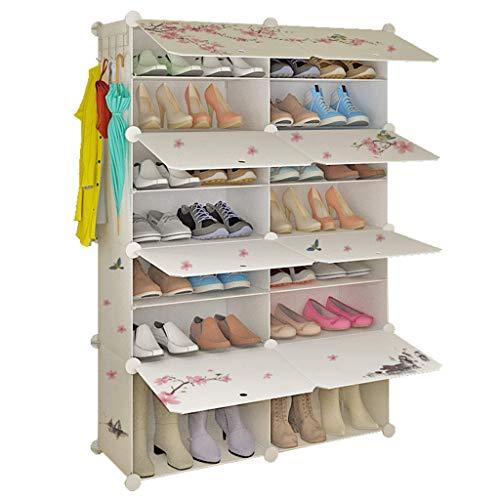 Busirsiz Zapato Simple Conjunto de Almacenamiento de plástico Multi-Dormitorio Estante Dormitorio Economy Shoe