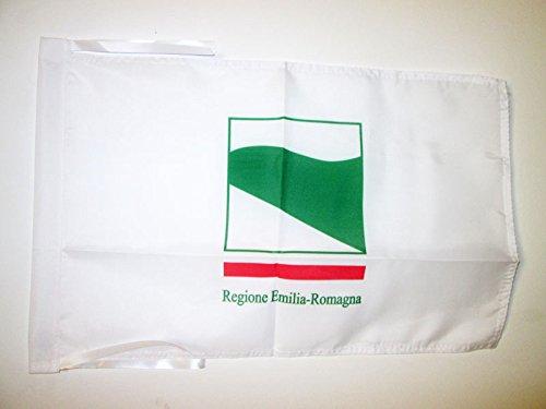 AZ FLAG Bandera de Emilia-ROMAÑA 45x30cm - BANDERINA DE Emilia-Romagna - Italia 30 x 45 cm cordeles
