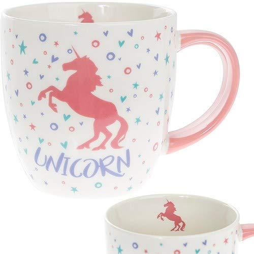 Licorne Rose Mug en porcelaine fine – Boîte Cadeau