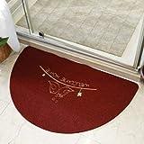 OMUSAKA Alfombra de baño Media Puerta Alfombra de baño para decoración Antideslizante Bahtmat para decoración Alfombras de baño Baño Alfombra de Cocina