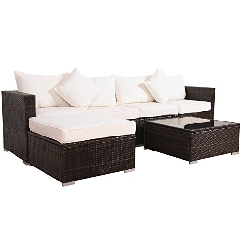 Svita California-Plus Lounge Tuinset Sofa-set met aluminium frame tuinmeubelen sofa-set (XL)