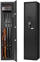 4 Gun Safe Rifle Safe Cabinet, Long Gun Safe for Rifle Shotgun for Home, Quick Access Gun Storage Cabinet with Handgun Safe Box Slient Mode(Keyboard PIN Code)