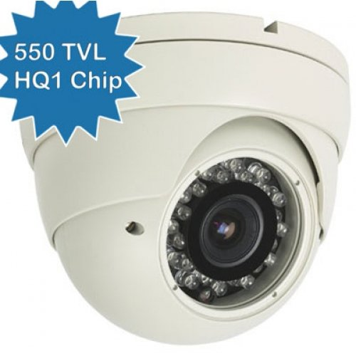 CCTV High Resolution Vandalproof Infrared Turret Dome Camera, Sony1/3