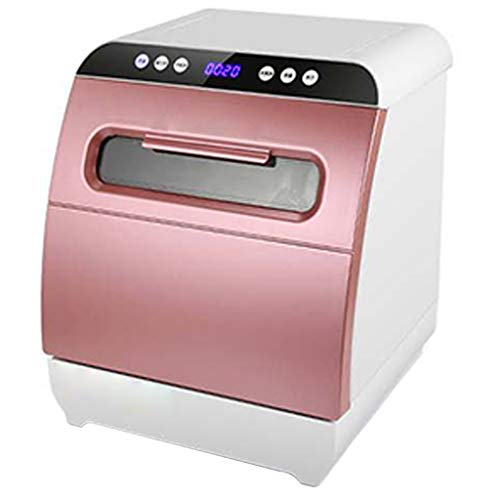 OCYE Kleiner Geschirrspüler, tragbarer Aufsatzgeschirrspüler, energiesparend und wassersparend, Kleiner und kompakter Geschirrspüler- (pink)