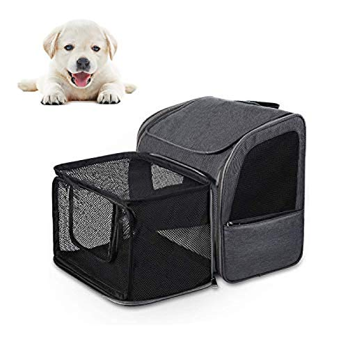 ZHENG Pet Carrier Backpack Dog Backpack Expandable Mesh Cat Carrier Backpack Padded Breathable Pet Puppy Carrier Bag Rucksack For Large, Medium And Small Dogs And Cats