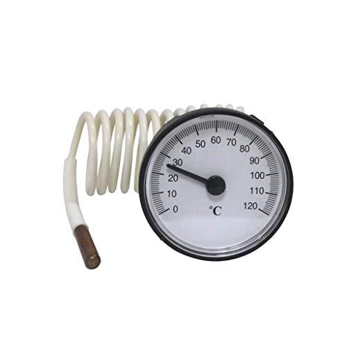 Temperaturanzeige 0 – 120 Sensor, Kapillar-Thermometer, Temperatur für Durchlauferhitzer, 1,1 m