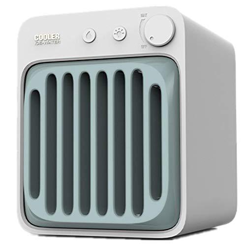 Ventilador Aire Acondicionado PortáTil, Enfriador Aire Recargable por USB, MáQuina Ventilador PulverizacióN HumidificacióN Agua FríA con Doble Cristal De Hielo, Humidificador Purificador Aire