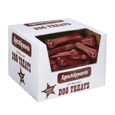 "Premium Pressed Rawhide Bones Dog Treat Size: 6""/90-Pack by Ranch Rewards"