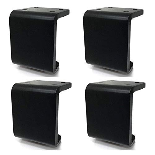 DX meubelpoten voor banken, tafelpoten, dikke metalen poten, bedpoten, draagkracht 1200 kg (2654 lbs) voor knutselbanken, cafés, kasten, bedden, enz.