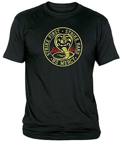 Camisetas EGB Camiseta Adulto/niño Cobra Kai Karate Kid ochenteras 80´s Retro (Negro, 9-11 años)