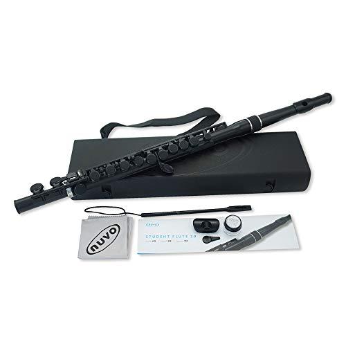 NUVO ヌーボ プラスチック製管楽器 完全防水仕様 フルート C調 Student Flute 2.0 Black/Black N230SFBK (専用ハードケース付き) 【国内正規品】