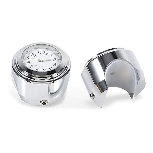 Alivier Luminoso Moto Manillar Reloj Impermeable termómetro Universal Motocicleta Accesorios