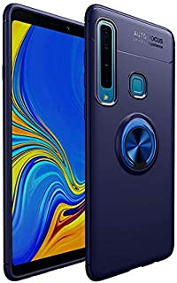 Case Cover Samsung Galaxy A9 (2018) Liquid Case, with Slim Protection TPU, with Ring Grip, Navy