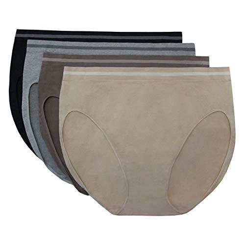 Ellen Tracy Seamless Flawless Fit Hi Cut Panties 4 Pack