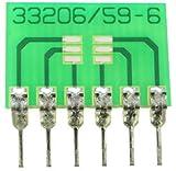 6 Pin SIP Surface Mount Integrated Circuit Adapter (0.4' x 0.6')