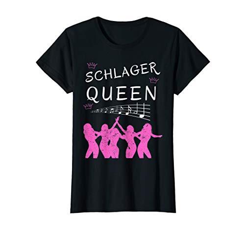 Damen Schlager Queen | Schlagermusik | Schlagerparty | Geschenk T-Shirt