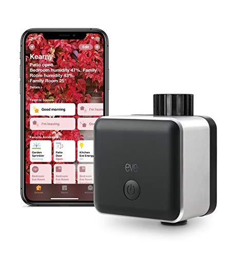 Elgato Eve Aqua - Controlador inteligente de riego con tecnología Apple HomeKit, color negro