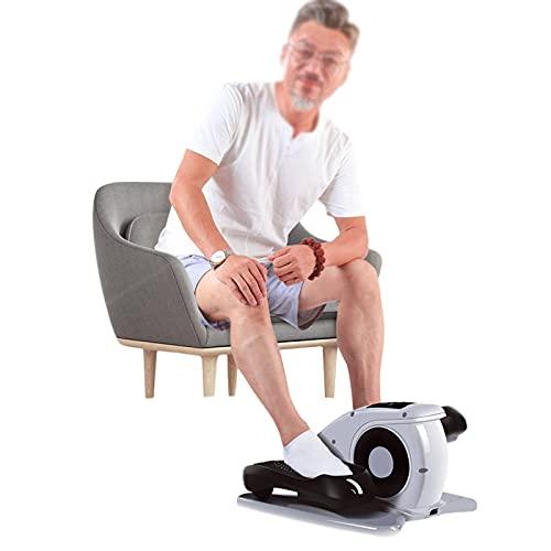 LANHA Mini Macchina ellittica elettrica, Bici ellittica Allenatore ellittico Portatile per Esercizi con Pedale Grande, Telecomando Wireless e Schermo tattile per la Palestra di casa e Ufficio