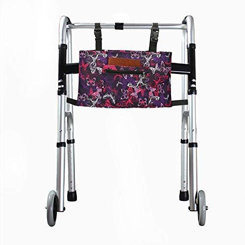 Hanshi HGJ254 Rollstuhltasche, Armlehne, Organizer, Zubehörkorb, Händefreie Aufbewahrung, passend für die meisten Roller, Walker, Rollator