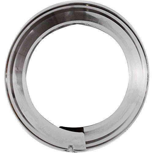 FIREFIX RD130/BO 1757 FAL verstellbare Rosette (ø 100-120 mm), 4,4 cm breit, ø 100, 110 und 120 mm - für 0,6 mm starke Ofenrohre, Silber