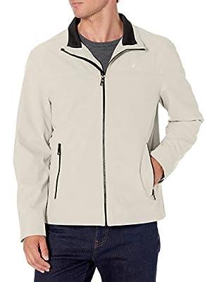 Nautica Men's Lightweight Stretch Golf Jacket, Stone, XXL