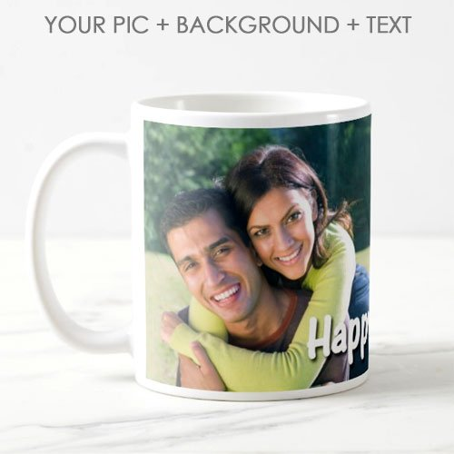 Exciting Lives Personalised Photo Ceramic 325ml Coffee MugWhite