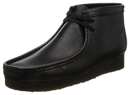[クラークス] ブーツ ワラビーブーツ 本革 撥水加工 メンズ Mens Wallabee Boot (定番) ブラックレザー 24....