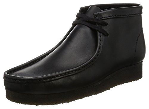 Clarks Originals Herren Wallabee Chukka Boots, Schwarz (Black Leather), 39.5 EU