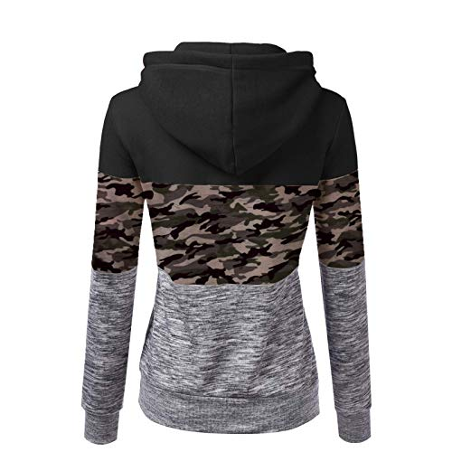 HFENG Damen Sweatshirt Mode Plüschmantel Leopard Splice Kapuzensweatshirt Winter...