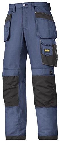 Snickers Workwear 3213 Pantalones, Navy-Schwarz, 50