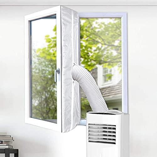 TURBRO Sello de ventana para escape de aire acondicionado portátil, kit de instalación de ventana universal para unidad de CA móvil, se adapta a ventanas inclinables y de casement