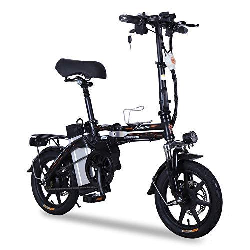Dpliu-HW Elektrofahrräder Electric Bike Lithium-Faltrad leichte Dicke Aluminiumrahmen Mini-Roller Stromerzeugung for Erwachsene Fahren Auto Batterie Auto (Color : A)