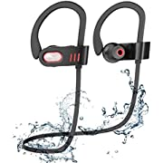 Bluetooth Headphones Wireless Earbuds in Ear with Mic for Running,Wireless Headphones with Microphone, Earbuds Sweatproof for Sport Black