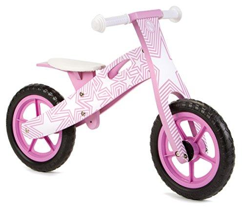 Nicko Purple Star NIC858 - Bicicletta in legno per bambini