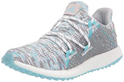 adidas Women's W Crossknit DPR Golf Shoe, White/Hazy Sky/Grey, 7.5 US