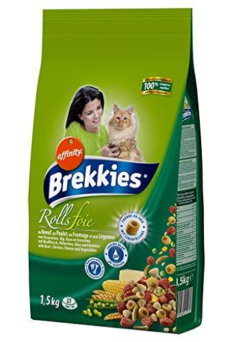 Brekkies Rolls Gras Kroketten Katzen in Rindfleisch Hühnerfleisch Käse Und Lã © Gumes 1.5kg (3er-Pack) 1