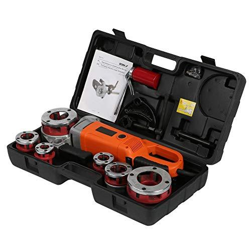 Evonecy con Kit de roscadora de Tubos con trinquete de 6 Troqueles, máquina roscadora de(European Standard 220V)