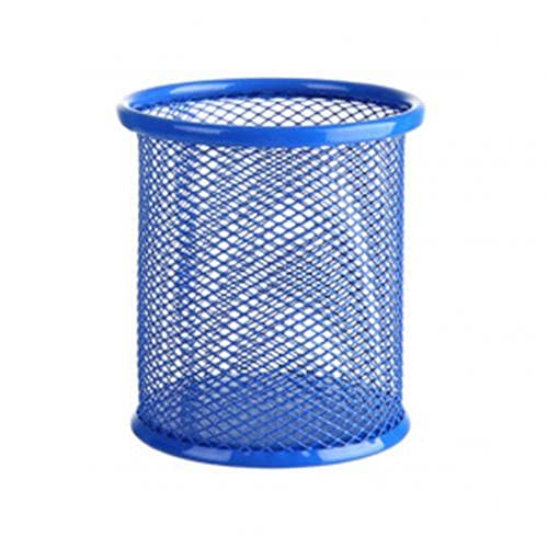 Stiftehalter aus Metall, hohl, Vase, Organizer, Schreibwaren, Aufbewahrung, Schreibtisch-Behälter, Stifthalter, Organizer, escritorio porta caneta (Farbe: blau)