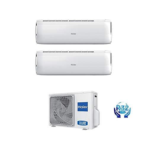 Condizionatore Climatizzatore Haier Dawn R-32 Dual Split Inverter 9000+12000 Con 2U50S2SC1FA WI-FI Ready