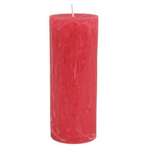 Cirio Rustika Rojo 70x 180mm bloque Vela Vela de Navidad Adviento vela vela