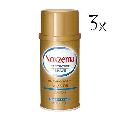 3X NOXZEMA Argan Oil Shaving Foam Cream Sapone Schiuma da Barba Olio Di Argan 300ML