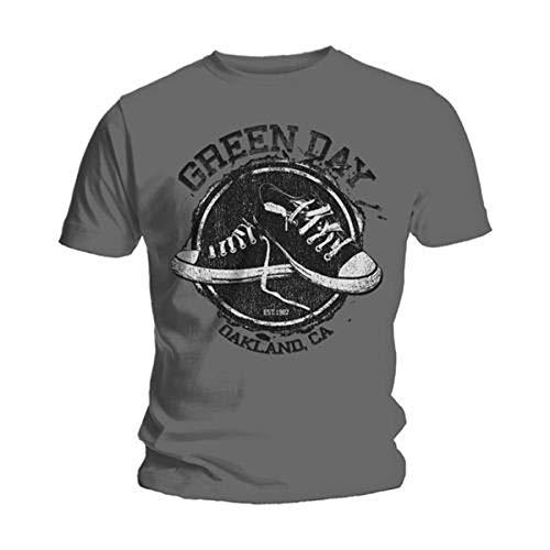 Bravado - Camiseta de Green Day para hombre, Gris,...