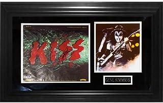Gene Simmons Autographed Kiss Deluxe Framed Album Piece - JSA