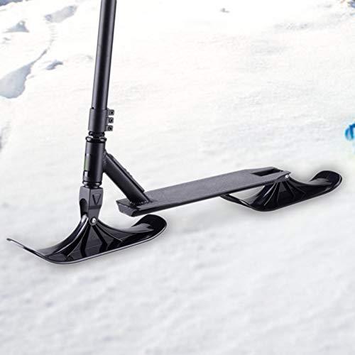 TARTIERY Ersatz-Kufen Für Kinderroller, Scooter Ski Umbausatz, Tretroller Schnee 2in1-Tretroller Und Schlitten Kinderroller-Scooter, Doppelten Gebrauch Für Laufräder