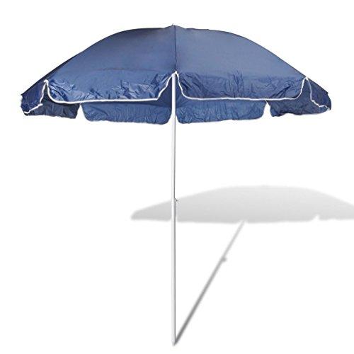UBaymax Ø 180 cm Sonnenschirm Strandschirm, Strand Knickbar Rund Gartenschirm Terrassenschirm, Sonnenschutz UV20+ Marktschirm für Balkon, Garten, Terrasse, Blau