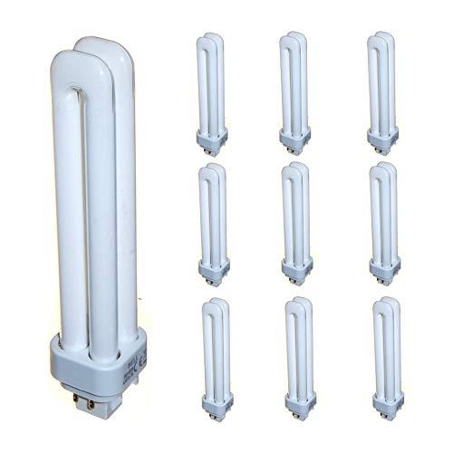 10 lámparas CFL de ahorro de energía de 26 W, 4 pines, 26 W, blanco frío, 840 G24q-3 doble giro, 1716 lúmenes.