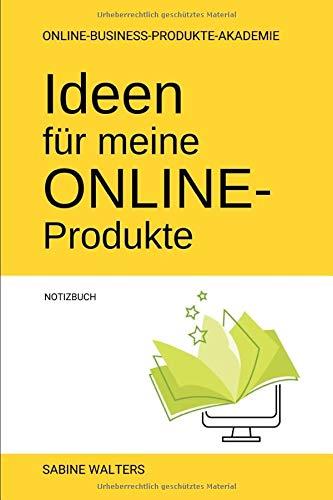 Ideen für meine Online-Produkte Notizbuch