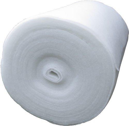 Universal Filtervlies für Aquarium und Teich, 80g/m², 0,9 m x 10 m, ca. 0,5 cm dick, 9 m² (EUR 4,43/m²), Filtermatte weiß, Meterware, speziell geeignet für Tunze Patronenfilter, Patronen ... , ebenso geeignet für Filtereinsätze von z.B. Eheim, Tetra, JBL, Fluval