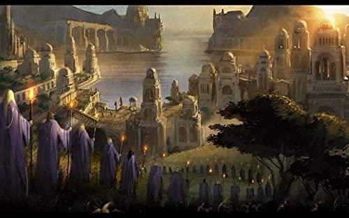 warmwfw Rompecabezas de Madera para Adultos 1000 Piezas, El señor de los Anillos La Batalla por la Tierra Media II Rompecabezas Desafío Rompecabezas Juguete Educativo Intelectual (75 * 50 cm)