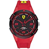 Ferrari Men's Quartz Watch with Silicone Strap, Red, 18 (Model: 830748)